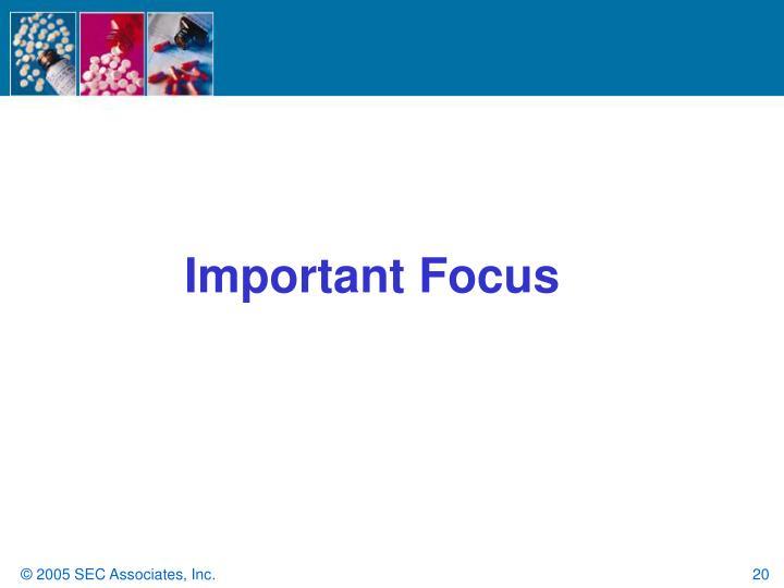 Important Focus