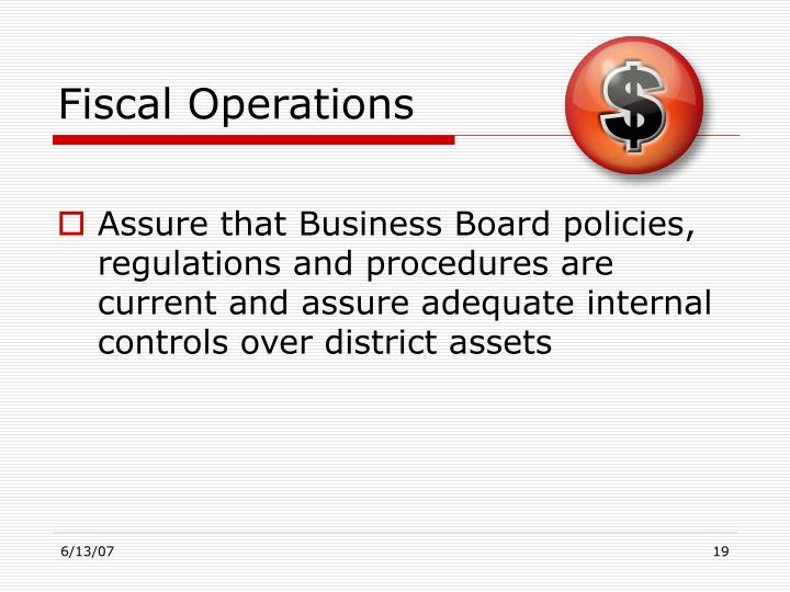 Fiscal Operations
