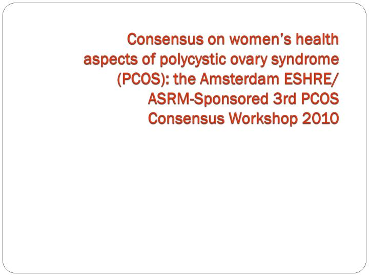 Consensus on women's health
