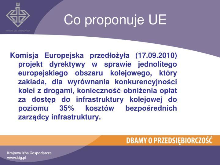 Co proponuje UE