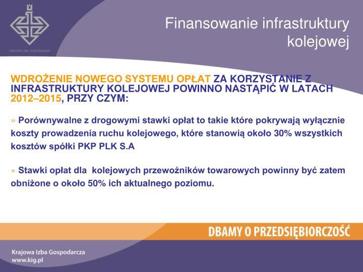 Finansowanie infrastruktury kolejowej