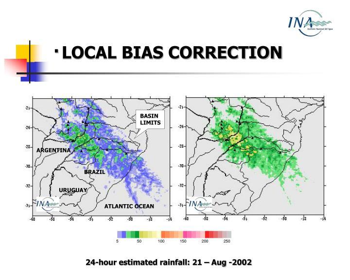 ·LOCAL BIAS CORRECTION