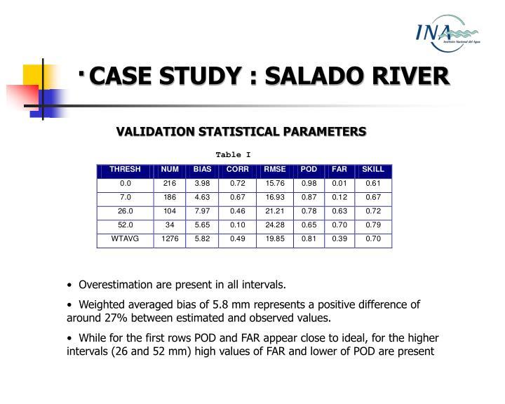 ·CASE STUDY : SALADO RIVER