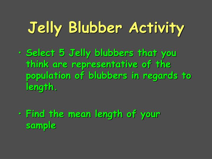Jelly Blubber Activity