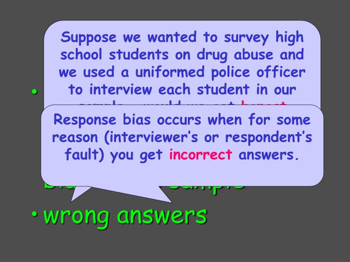 occurs when the behavior of respondent or interviewer causes  bias in the sample