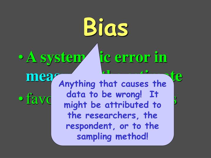 A systematic error in