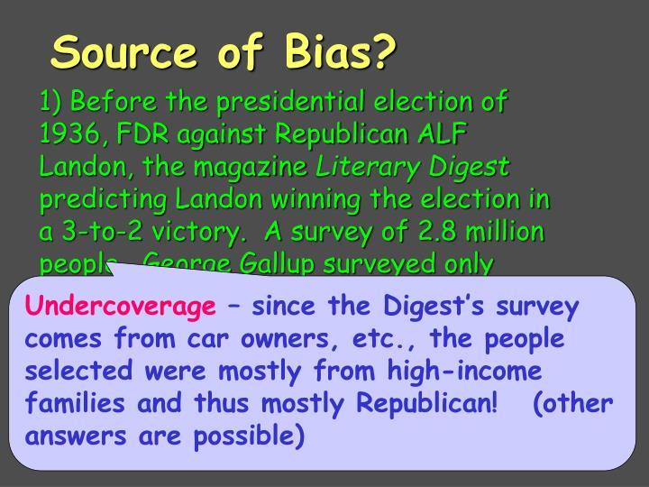 Source of Bias?