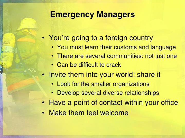 Emergency Managers
