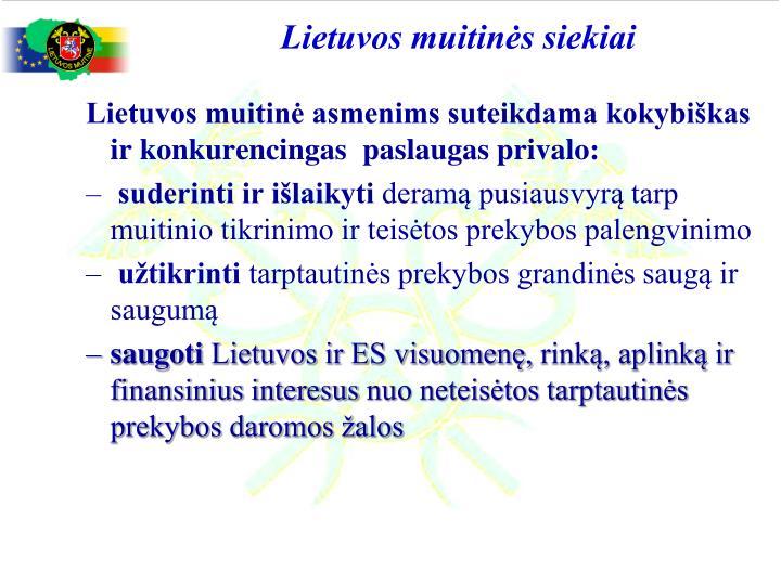 Lietuvos muitinės siekiai