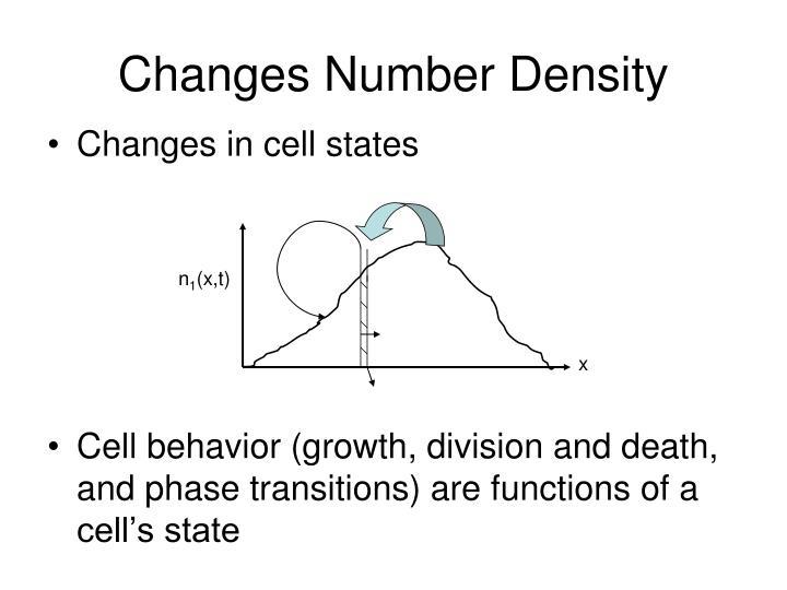Changes Number Density