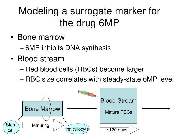 Modeling a surrogate marker for the drug 6MP