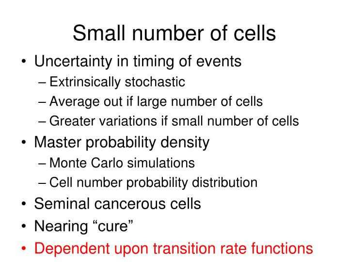 Small number of cells