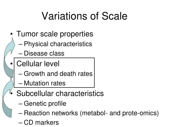 Variations of Scale