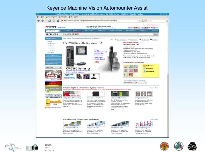 Keyence Machine Vision Automounter Assist