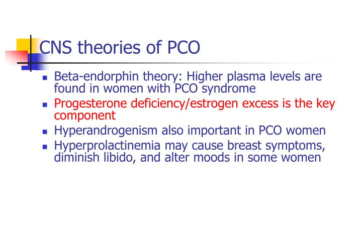 CNS theories of PCO