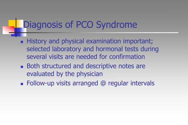 Diagnosis of PCO Syndrome