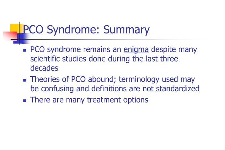 PCO Syndrome: Summary