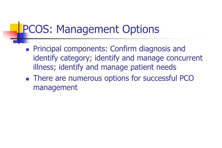 PCOS: Management Options