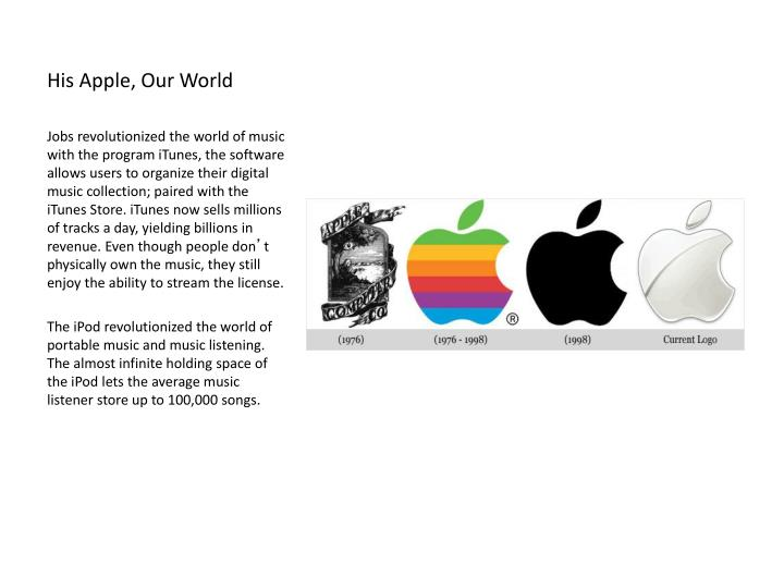 His Apple, Our World