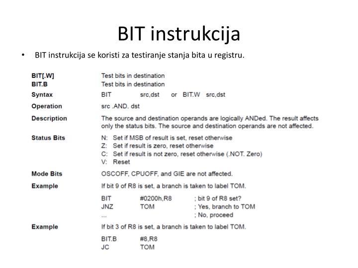 BIT instrukcija