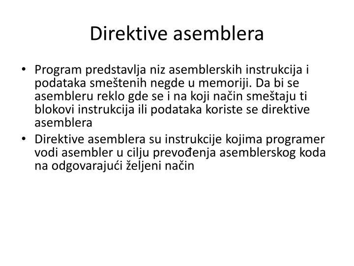 Direktive asemblera