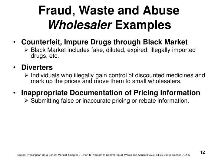 Fraud, Waste