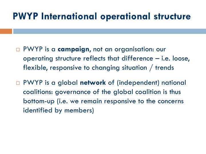PWYP International operational structure