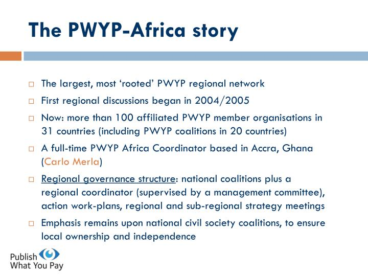 The PWYP-Africa story