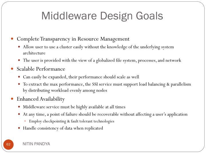 Middleware Design Goals