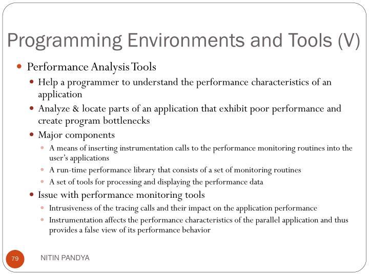 Programming Environments and Tools (V)
