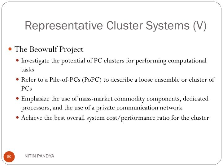 Representative Cluster Systems (V)