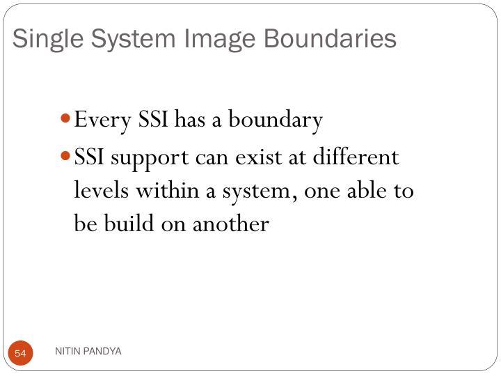 Single System Image Boundaries