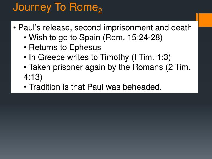 Paul's release, second imprisonment and death