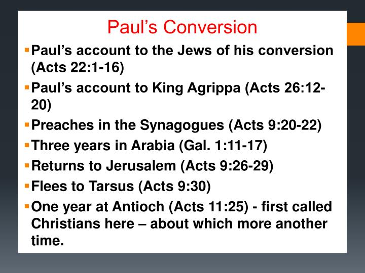 Paul's Conversion