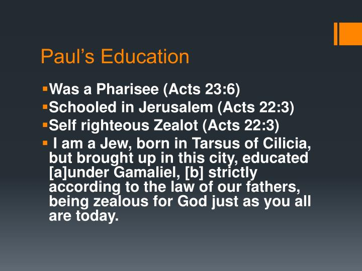 Paul's Education