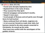 points in the third journey 1