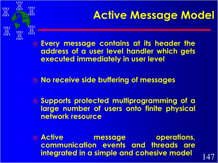 Active Message Model