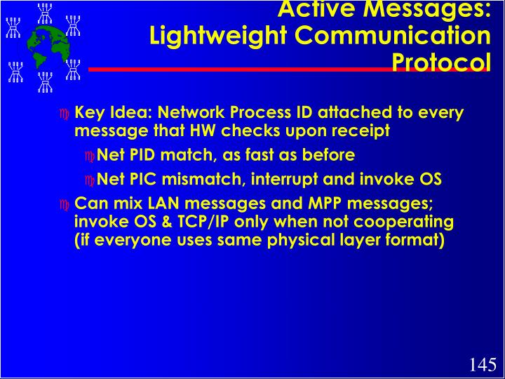 Active Messages: Lightweight Communication Protocol