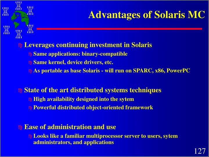 Advantages of Solaris MC