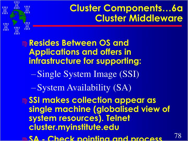 Cluster Components…6a