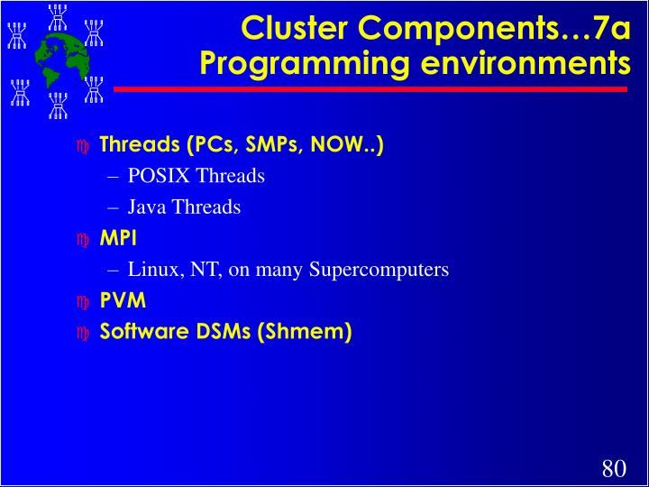 Cluster Components…7a