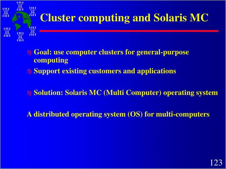 Cluster computing and Solaris MC