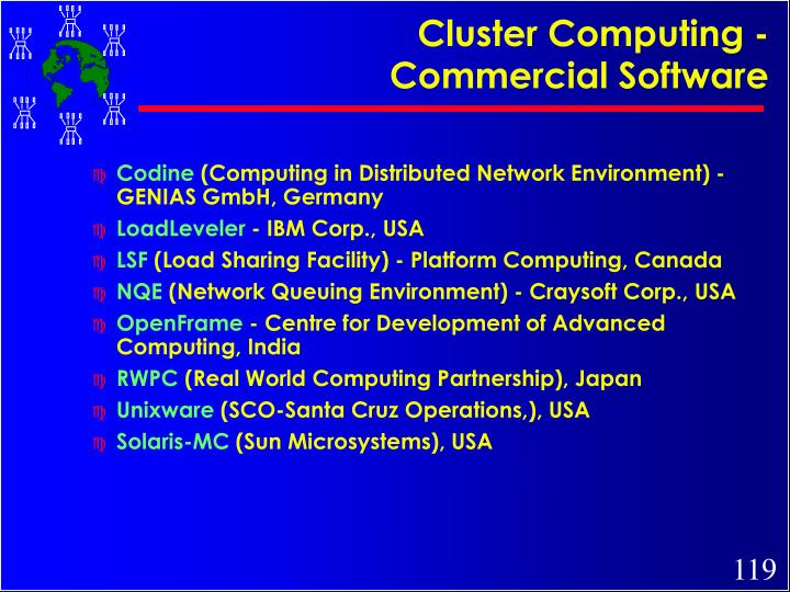 Cluster Computing - Commercial Software
