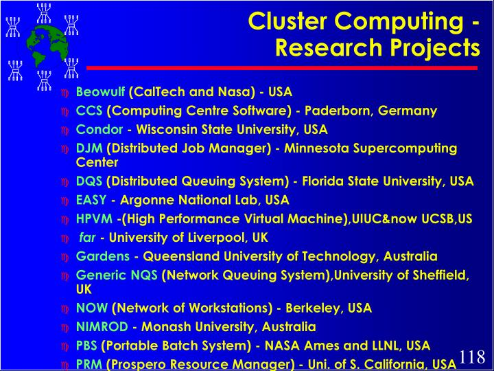 Cluster Computing - Research Projects