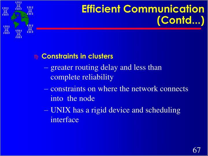 Efficient Communication (Contd...)