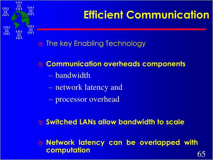 Efficient Communication