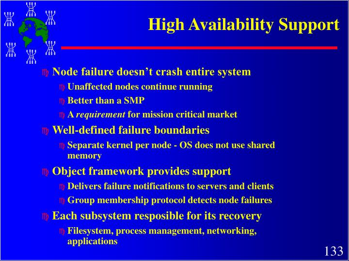 High Availability Support
