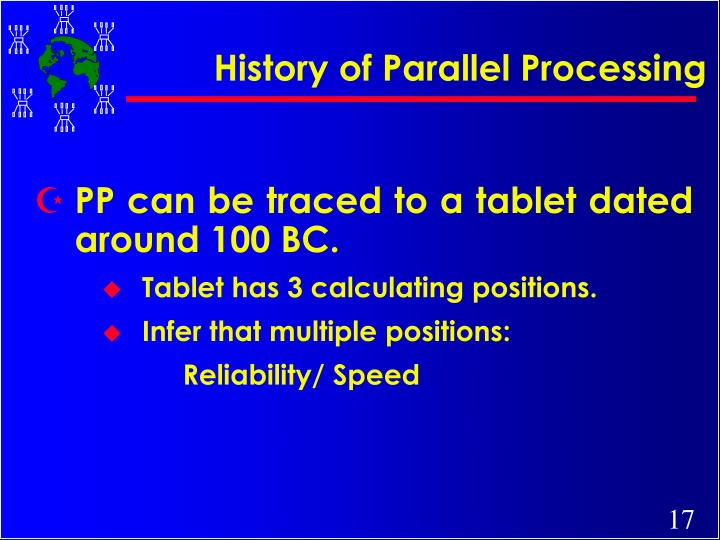 History of Parallel Processing