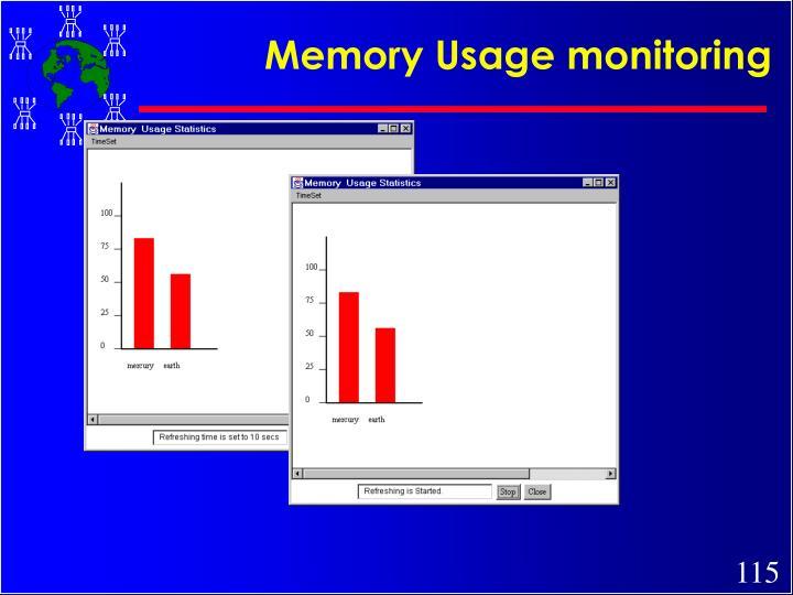 Memory Usage monitoring