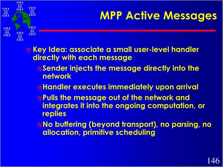 MPP Active Messages